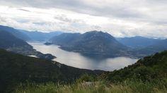 Photo Lake Como from the Parlasco-Cainallo road in Perledo, lombardia, Italy