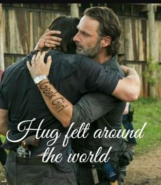 Rick and Daryl, best grimace ever
