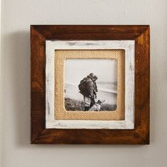 Loon Peak Vice Cedar Burlap Mat Picture Frame & Reviews | Wayfair
