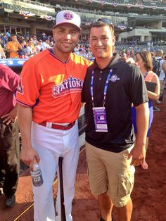 Carlos with Cardinals 2013 first draft pick Marco Gonzales. 7-15-13