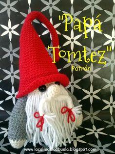 """¡Hola!. Seguimos con los patrones de La familia Tomtez  y en ésta ocasión os traigo el patrón de """"Papá Tomtez"""". Es un poco (sólo un poco) ..."""