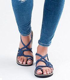 Summer Womens Sandals Retro Buckle-Strap Sandals Flat Bottom Roman Ladies Shoes 2019 New Summer Beach Sandals Slippers for Girls Women Ladies Clearance Under 10 Dollars Clearance Hot Sale