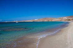 Paros beach by Christian Mura Paros Beaches, Paros Greece, Dance All Day, Crystal Clear Water, Beach Bars, Small Island, Sandy Beaches, Beautiful Places, Places To Visit