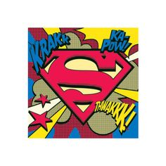 Superman (Pop Art Shield) - DC Comics Posters - Easyart.com ($730) ❤ liked on Polyvore featuring home, home decor, wall art, dc comics poster, dc shoes, pop art and superman poster