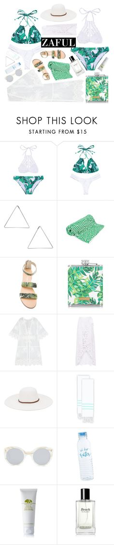 """""""Untitled #99"""" by fanfanfanfannnn ❤ liked on Polyvore featuring Humble Chic, John Elliott, Matisse, Miguelina, Physician Endorsed, Linum Home Textiles, Illesteva, Origins, Bobbi Brown Cosmetics and zaful"""