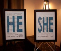 OMG So cute!  Share what you love about each other & display at the wedding reception