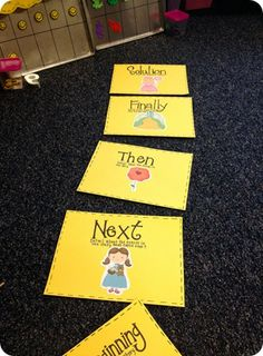 Cute idea for having kids retell their stories