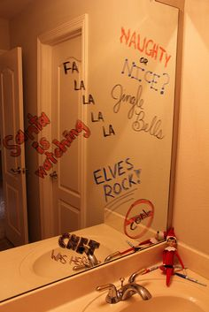 Elf graffiti... What a cute idea!