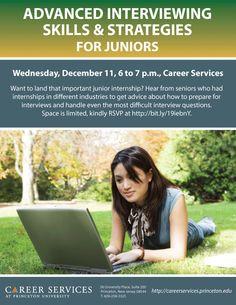 Advanced Interviewing Skills & Strategies for Juniors, December 11, 2013