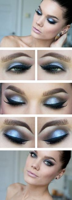 Glamorous look. These colours complement each other beautifully. The fake eye lashes finish the look.