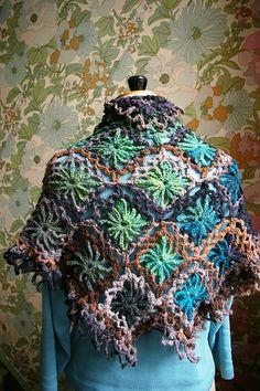 Japanese Wrap, made with Noro Kureyon yarn