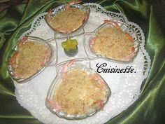 Recette de Coquilles St Jacques aux crustacés.béchamel.