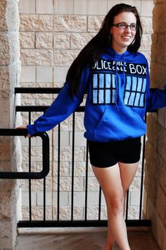 TARDIS - Doctor Who - Hoodie. $30.00, via Etsy. Couldn't be that hard to make my own! :)