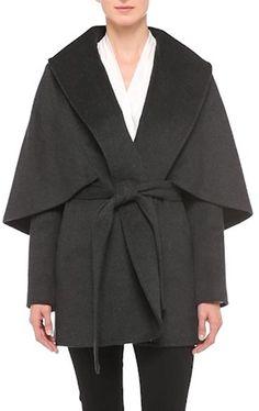 KOBI HALPERIN Kobi Halperin 'Sandra' Capelet Wool Blend Wrap Coat