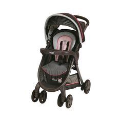 Graco FastAction Fold Click Connect Premiere Stroller Minnie's Garden... (3,145 MXN) ❤ liked on Polyvore featuring baby and baby stuff