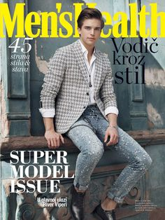Der Stefashionist: Fashion, Passion & Models: River Viiperi by Sinem Yazici for Men's Health Serbia Cover Male, Cover Boy, Cover Pics, Fashion Magazine Cover, Fashion Cover, Magazine Covers, Blake Steven, River Viiperi, White Jeans Winter