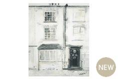 Black And White Street Scene Canvas  40 X 50cm