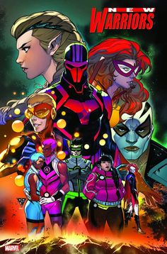 Three New Series From Marvel - Champions, New Warriors And Power Pack Marvel Comics, Marvel Art, Marvel Heroes, Marvel Characters, New Warriors, Goth Kids, Warrior 1, Young Avengers, Graphic Novels