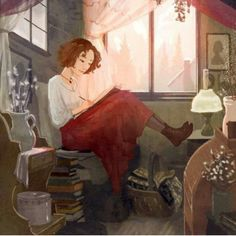 An eclectic collection of appealing photos, illustration and art. All photos belong to others, credited when possible. Art And Illustration, Reading Art, Woman Reading, Reading Time, Reading Nook, Reading Fluency, I Love Books, Books To Read, Art Gris