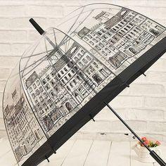 City Transparent & I Love Rain Umbrella