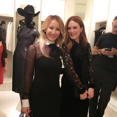 CoCo Lee and Julianne Moore