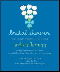 Bridal shower invite from wedding divas