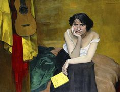 Woman and Guitar by Felix Vallotton John Singer Sargent Watercolors, Canvas Art, Canvas Prints, Brunette Woman, Classic Paintings, Woman Reading, Art Archive, Reproduction, Tag Art