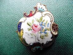 ANCIEN BOUTON EMAILLE 3.2 cm -SUPERBE !!!!!