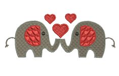 Elephant with hearts Used as a unit or seperate.
