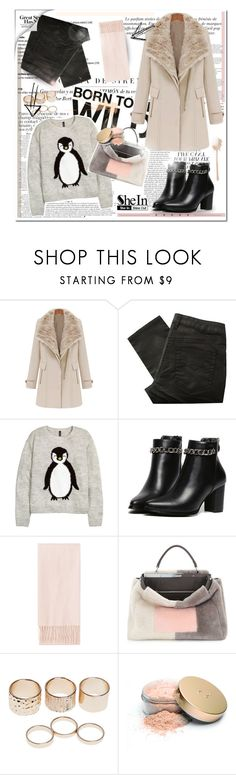 """""""It's cold outside.."""" by felytery ❤ liked on Polyvore featuring Anja, Great Plains, H&M, Topshop, Fendi, Wet Seal and Jane Iredale"""