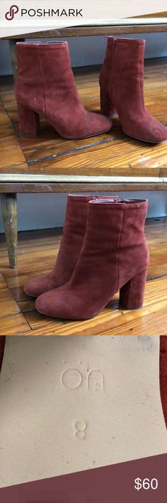 Burnt Red Suede Boots Burnt red/brown suede boots from urban outfitters. Worn once but a half size too big for me! Urban Outfitters Shoes Heeled Boots