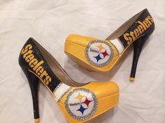 Custom Size 8 High Heels Shoes Pittsburg Steelers