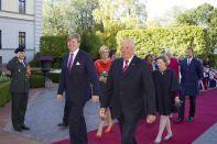 Reyes de Noruega y Holanda