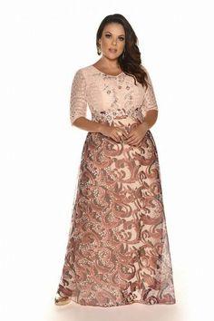 Вечерние и коктейльные платья для полных девушек и женщин бразильского бренда Fasciniu's Moda Evangélica, весна-лето 2017