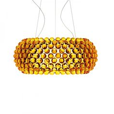 Foscarini Caboche Pendant Light by Patricia Urquiola & Eliani Gerotto Patricia Urquiola, Pendant Light Fixtures, Pendant Lamp, Pendant Lighting, Gold Pendant, Crystal Lights, Acrylic Chandelier, Applique Led, Kartell