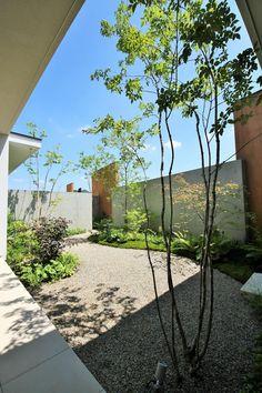 山県の庭: LIVING DESIGNが手掛けた庭です。 Gravel Garden, Garden Pool, Cafe Shop Design, House Design, Plant Design, Garden Design, Landscape Architecture, Architecture Design, Japan Landscape