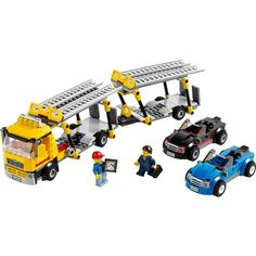 LEGO City Great Vehicles - Auto Transporter and thousands more of the very best toys at Fat Brain Toys. Get those sports cars shipped to the eager customers fast with the LEGO City Auto Transporter. Building Blocks Toys, Lego Building, Lego Auto, Van Lego, Lego Clones, Lego City Sets, Lego System, Lego Toys, City Car