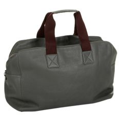 Discover the Chi Chi Fan Hamburg Leather Weekender - Grey at Amara