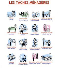 les tâches ménagères exercices - Buscar con Google