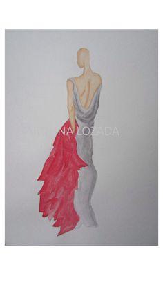 Ilustración de moda | alta costura | Carolina Lozada
