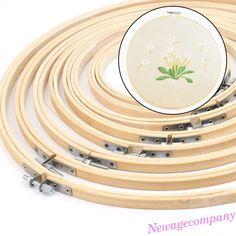 13-34cm Wood Embroidery Cross Stitch Hoop Circle Frame Needlecrafts DIY Art Sew