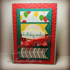 Cherry on Top DSP makes great birthday cards! Come and make this card with me!