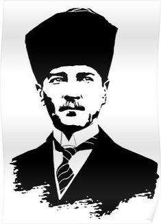 'Gazi Mustafa Kemal Atatürk' Poster by tuwegl - Hobbies paining body for kids and adult Cute Tattoos For Women, Stencils, 3d Cnc, Dress Shirts For Women, Long Hoodie, Unique Tattoos, Blogging, 1, Art Prints