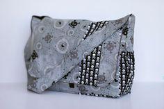 Punk Rock Skull Patchwork Diaper Bag OOAK - CUSTOM by RockerByeBaby.  Love this!