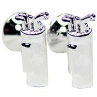 These silver plated pewter golf cufflinks are cut to the shape of golf clubs. Allow up to 2 weeks for delivery