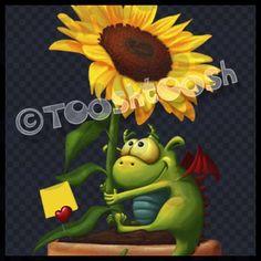 Tooshtoosh Paint Shop Tube: T145 Sunflower Dragon