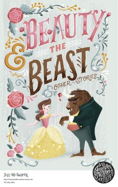 Beauty and the beast is a movie and a story made for kids as a princess falls in love with a beast and the beast ends up turning into a Prince Charming. Princess Illustration, Children's Book Illustration, Best Book Covers, Beautiful Book Covers, Buch Design, Cool Books, Disney Beauty And The Beast, Book Cover Design, Disney Art