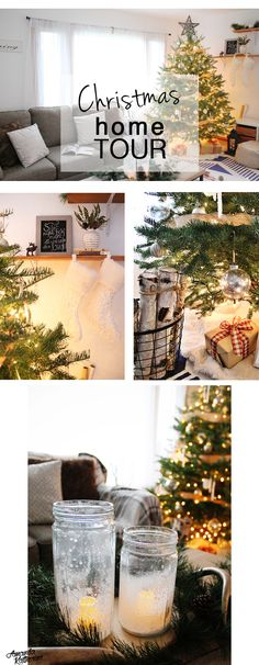 A simple DIY holiday home tour. Get in the spirit and cozy up your home with just a few holiday decorations. These homemade borax icicles and mercury glass ornaments are easy and affordable to make! The neutral decorations are perfect all winter long. Christmas Room, Christmas Holidays, Christmas Garden, Happy Holidays, Christmas Ideas, Holiday Crafts, Holiday Decorations, Seasonal Decor, Simple Diy