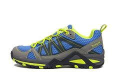 Hiwalk Womens Breathable Comfort Blue Trail Running Shoe 45 US *** To view further for this item, visit the image link.