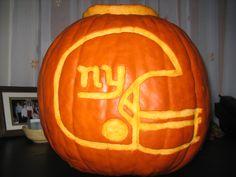 NY Giants Pumpkin